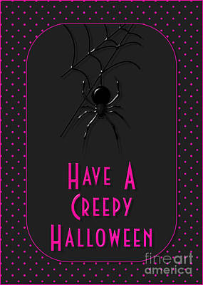 Digital Art - Creepy Halloween Spider by JH Designs