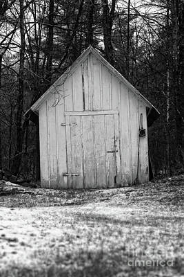 Photograph - Creepy Old Shed In The Cemetary by Edward Fielding
