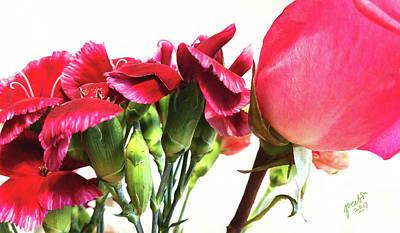 Digital Art - Creepy-red Flowers by Jacabo Navarro