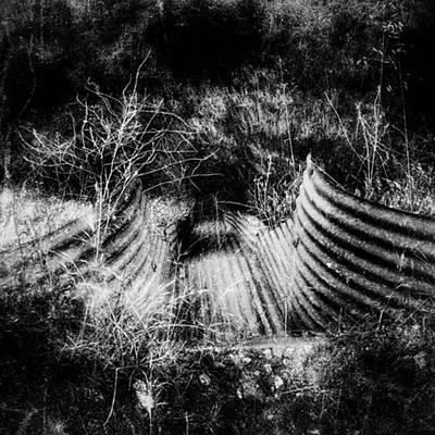 Wall Art - Photograph - Creepy Runoff Drain by Leah McPhail