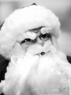 Creepy Santa Art Print