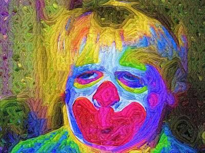 Creepy The Clown Print by Deborah MacQuarrie-Haig