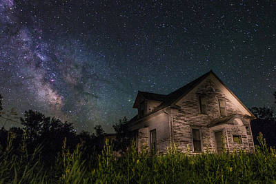 Photograph - Creepy White House by Aaron J Groen