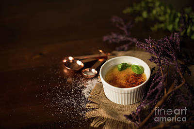 Creme Photograph - Creme Brulee  by Taylor Martinsen