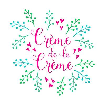 Creme De La Creme Pink Hearts Art Print