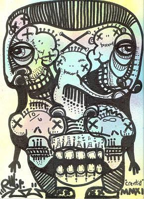 Stencil Art Painting - Crentist by Robert Wolverton Jr