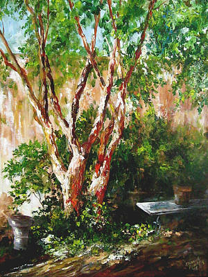 Painting - crepe myrtle SOLD by Gloria Turner