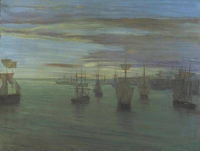 Whistler Painting - Crepuscule In Flesh Colour And Green  Valparaiso by James Abbott