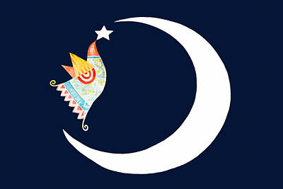 Refugee Art Photograph - Crescent And Star by Munir Alawi