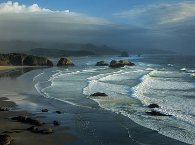 Photograph - Crescent Beach And Surf by Robert Potts
