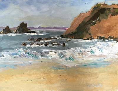 Painting - Crescent Beach At Laguna  by MaryAnne Ardito