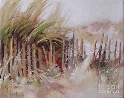 Painting - Crescent Beach Fence by Mary Hubley