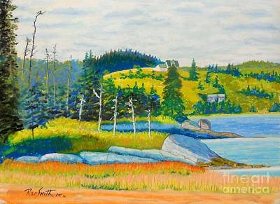 Pastel - Crescent Beach  by Rae  Smith PAC