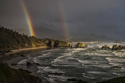 Photograph - Crescent Beach Rainbow by Robert Potts