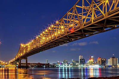 Photograph - Crescent City Bridge, New Orleans, Version 2 by Kay Brewer
