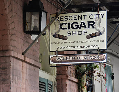 Photograph - Crescent City Cigar Shop Signage - New Orleans by Greg Jackson