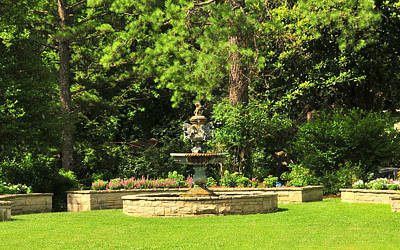 Photograph - Crescent Hotel Eureka Springs Garden by Brian Hoover