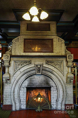 Photograph - Crescent Hotel Fireplace by Jennifer White