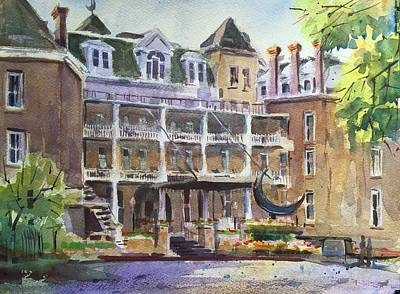 Crescent Hotel Art Print by Spencer Meagher