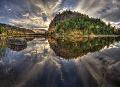 Photograph - Crescent Lake Golden Hour Hdr Wide Pano by Jakub Sisak