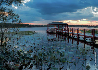 Photograph - Crescent Lake Jetty by Stuart Wilson