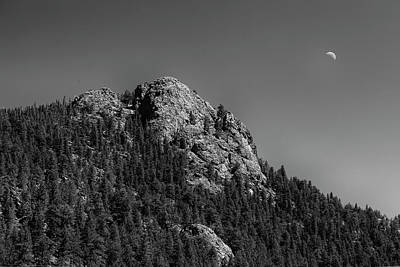 Photograph - Crescent Moon And Buffalo Rock by James BO Insogna