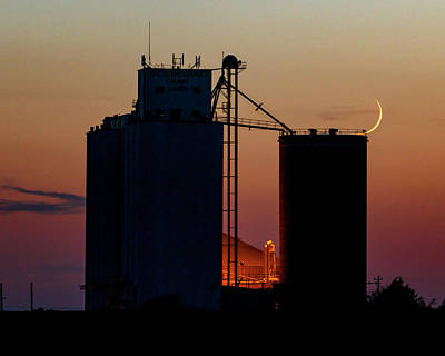 Photograph - Crescent Moon At Laird 04 by Rob Graham