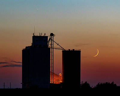 Photograph - Crescent Moon At Laird 05 by Rob Graham
