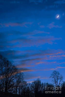 Science Collection - Crescent Moon at Sundown by Thomas R Fletcher