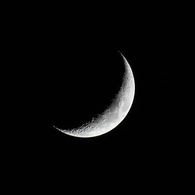 Photograph - Crescent Moon by Darryl Hendricks