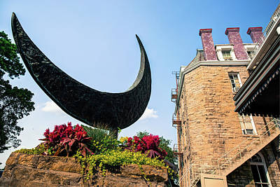 Photograph - Crescent Moon - Eureka Springs Hotel by Gregory Ballos