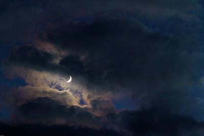 Photograph - Crescent Moon In Hocking Hilla by Haren Images- Kriss Haren