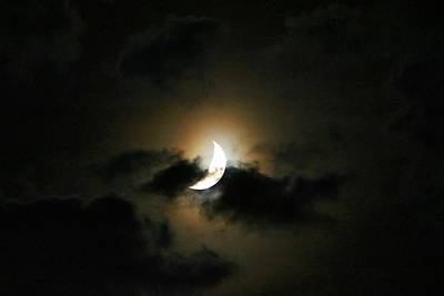 Photograph - Crescent Moon In The Clouds 2 by Kathryn Meyer