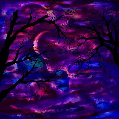 Crescent Moon Digital Art - Crescent Moon by Rachel Christine Nowicki