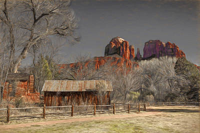 Crescent Moon Ranch Art Print by Donna Kennedy