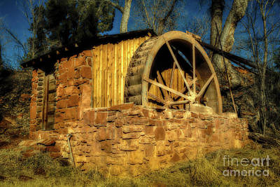 Photograph - Crescent Moon Ranch Water Wheel Complex by Jon Burch Photography