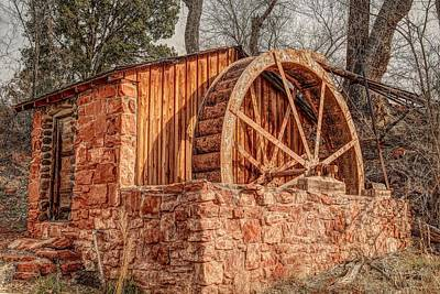 Photograph - Crescent Moon Ranch Water Wheel by Donna Kennedy