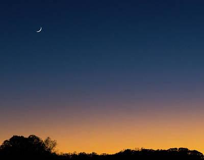 Photograph - Crescent Moon Sunset by Steve Atkinson