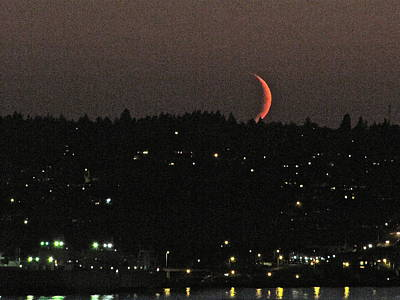 Art Print featuring the photograph Crescent Moonset by Sean Griffin