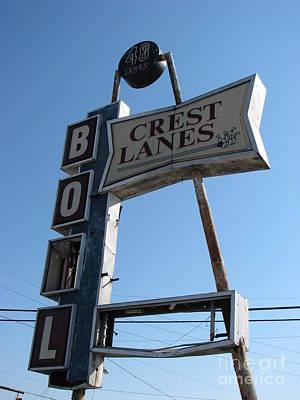 Photograph - Crest Bowling Lanes by Michael Krek