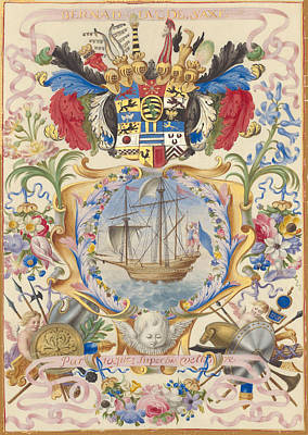 Fine Dining - Crest - Coat Of Arms - Prince - Princess - Duke - Duchess - Bernard Duc De Saxe by Art Makes Happy
