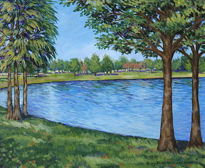 Crest Lake Park Art Print by Penny Birch-Williams