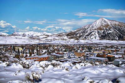 Mt Rushmore Royalty Free Images - Crested Butte Panorama Royalty-Free Image by Anthony Dezenzio