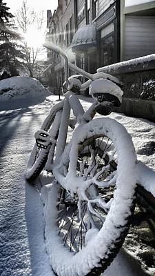 Photograph - Crested Butte Snow Bike by Fiona Kennard