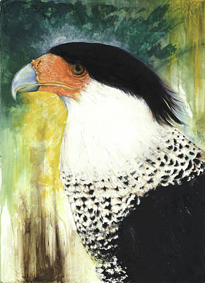 Mixed Media - Crested Caracara by Anthony Burks Sr