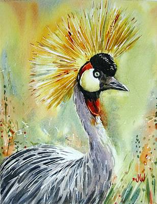 Painting - Crested Crane by June Walker
