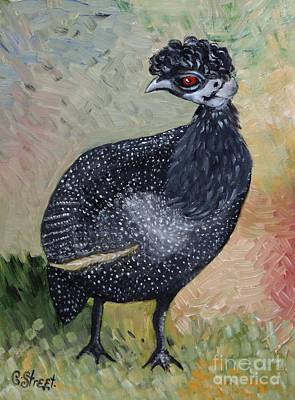 Painting - Crested Guineafowl by Caroline Street