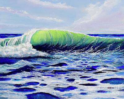 Painting - Cresting Wave by Mary Scott