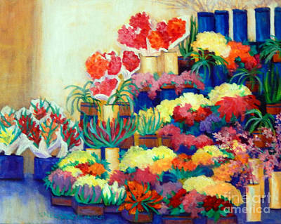 Crete Flower Market Original by Sharon Nelson-Bianco