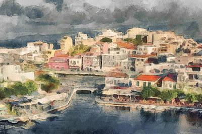 Crete Digital Art - Crete Island by Yury Malkov